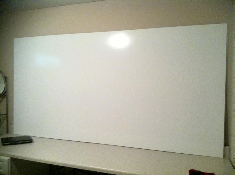 I Just Put A Board Up In What Will Soon Be My Office Area It S 4x8 White Panel You Can Get Them At Lowes For About 12 Bucks