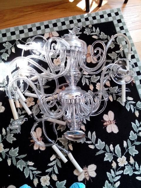 8k broken chandelier im not laughin residential window im headed to the home owners house tomorrow with the homeowners permission to take more pictures and inspect the broken chandelier aloadofball Gallery