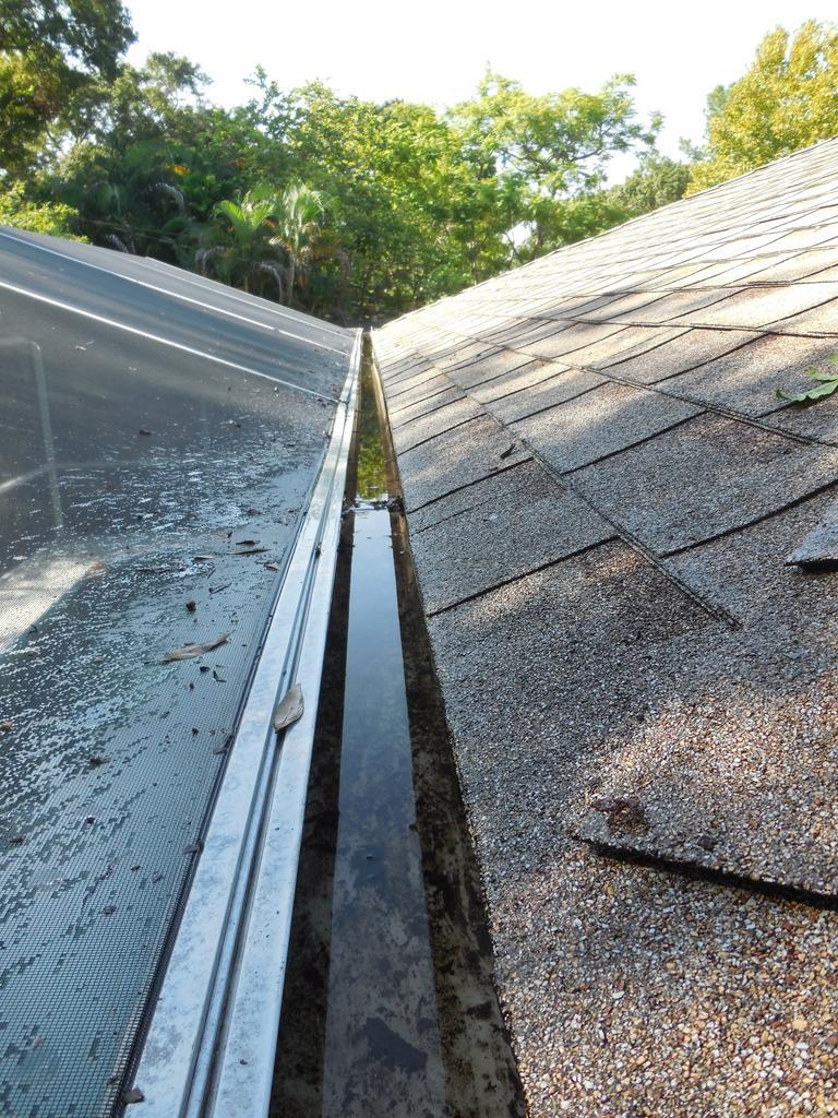 Screen Enclosure Gutter Clean Question Residential