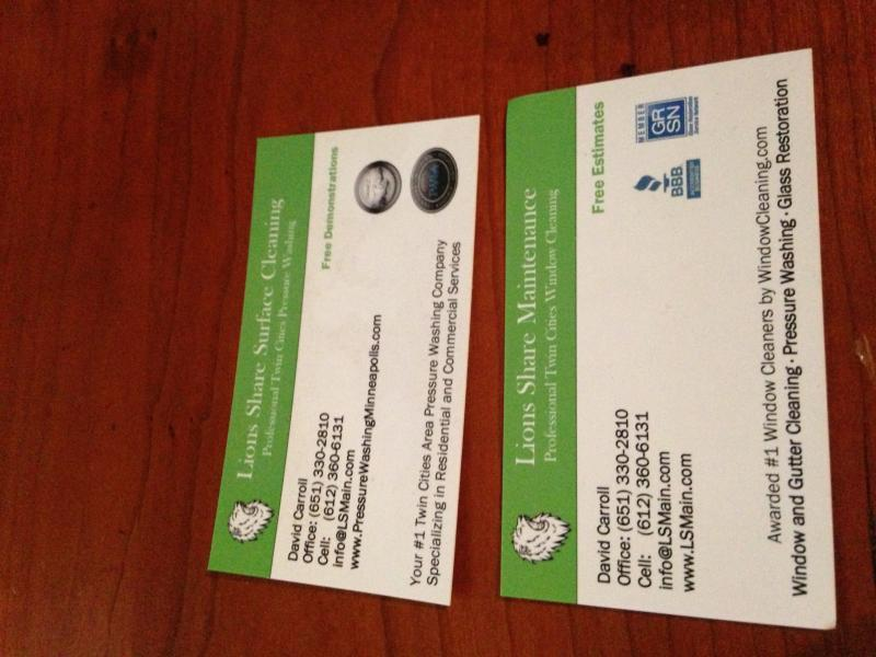 Lets see your business card - Conversation - Window Cleaning Resource