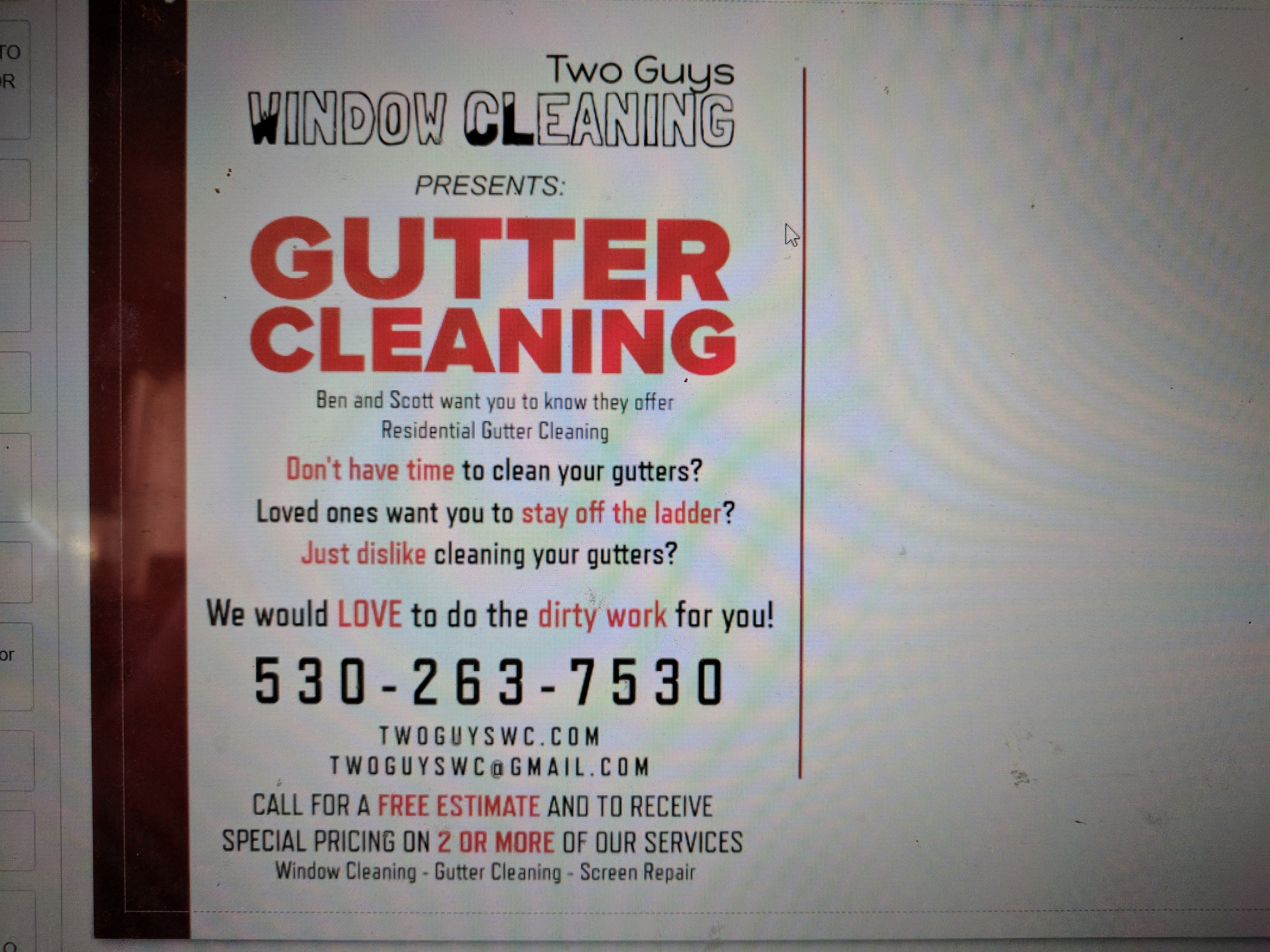 Gutter Cleaning Flyer Design Marketing Window Cleaning