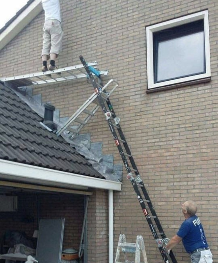 Is This A Good Ladder Setup Residential Window