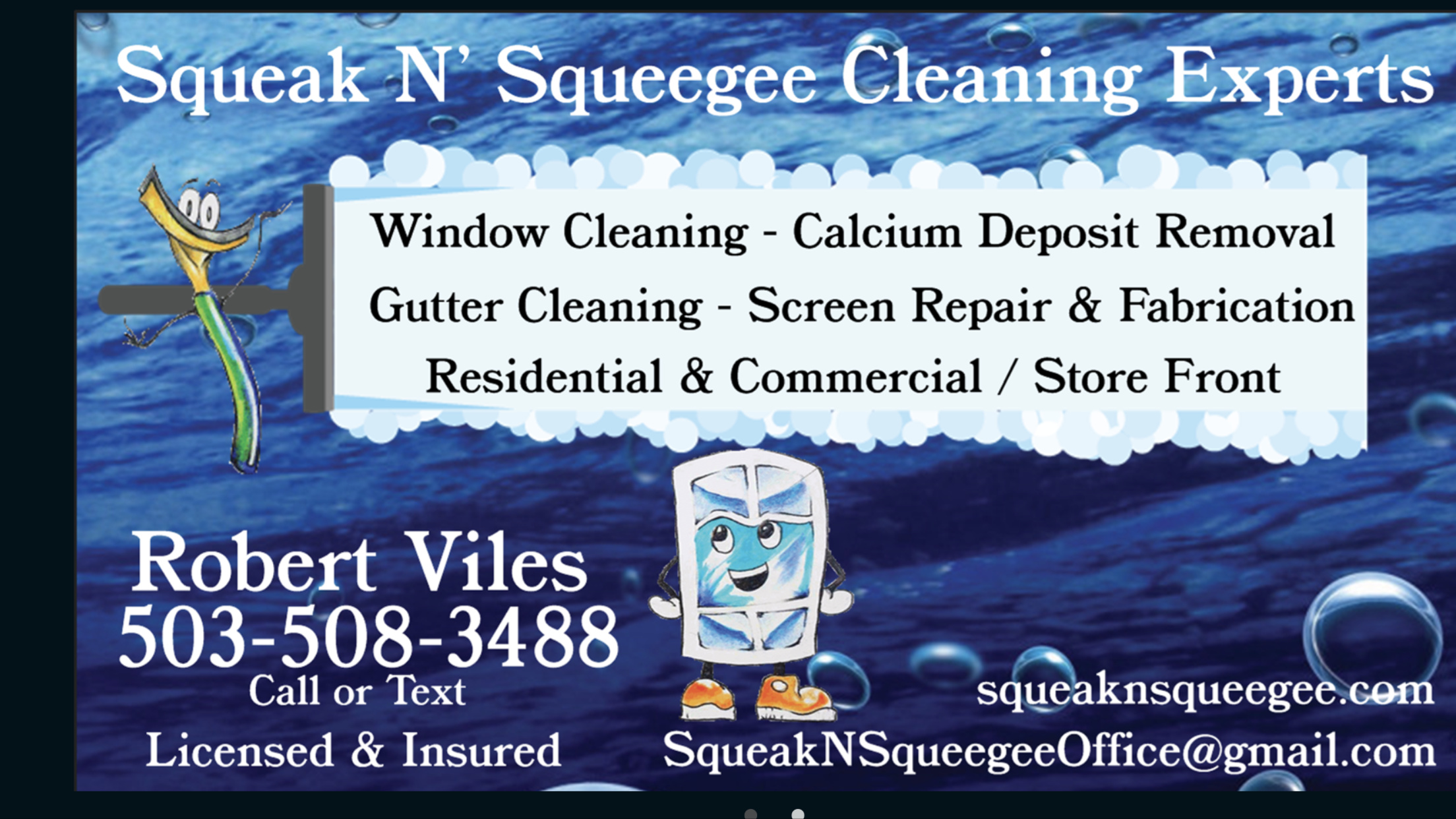 Business card help! Estimate on back - Marketing - Window Cleaning ...