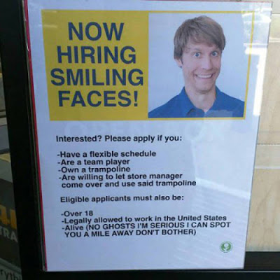 now Hiring no ghosts